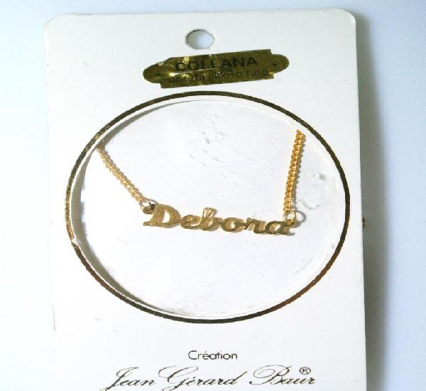 "Collar dorado al oro fino ""debora"", diseño jean gérad"