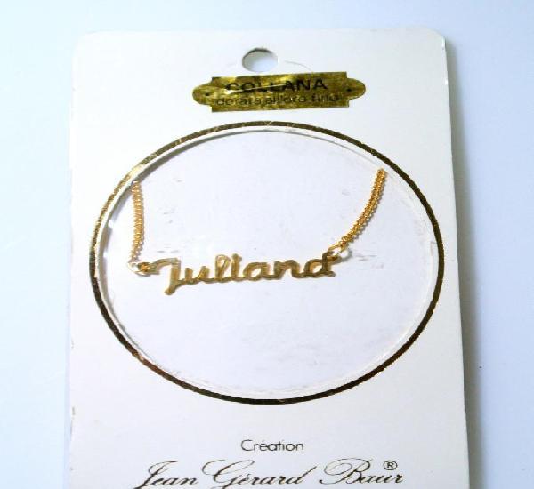 "Collar dorado al oro fino ""juliana"", diseño jean gérad"