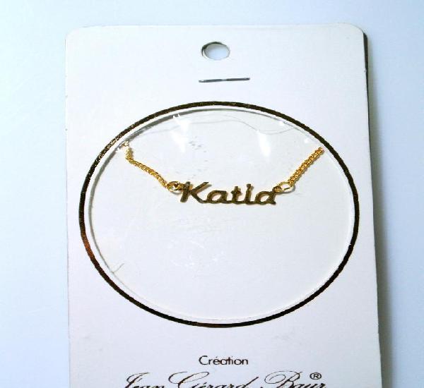 "Collar dorado al oro fino ""katia"", diseño jean gérad"