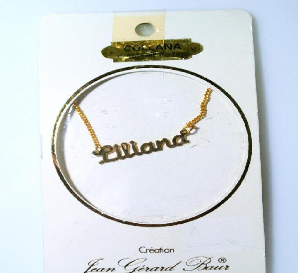 "Collar dorado al oro fino ""liliana"", diseño jean gérad"
