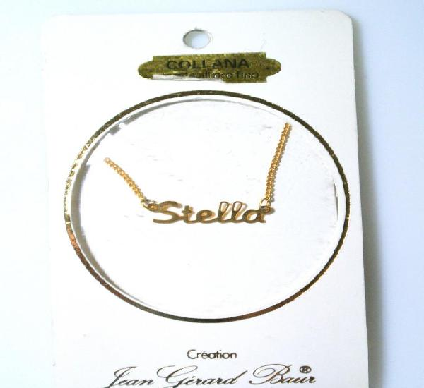 "Collar dorado al oro fino ""stella"", diseño jean gérad"