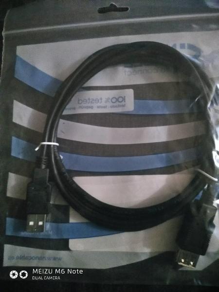 Cable alargador usb macho usb hembra