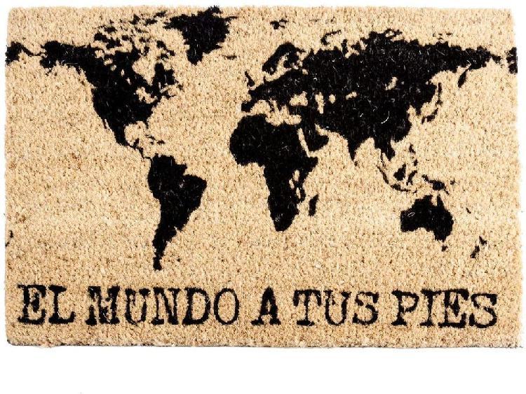 Felpudo entrada el mundo a tus pies (40 x 60 cm)