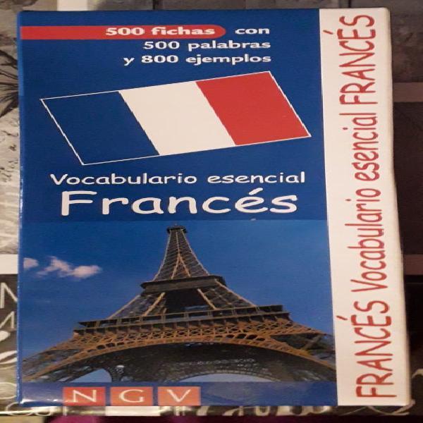 Juego nuevo 500 fichas vocabulario frances