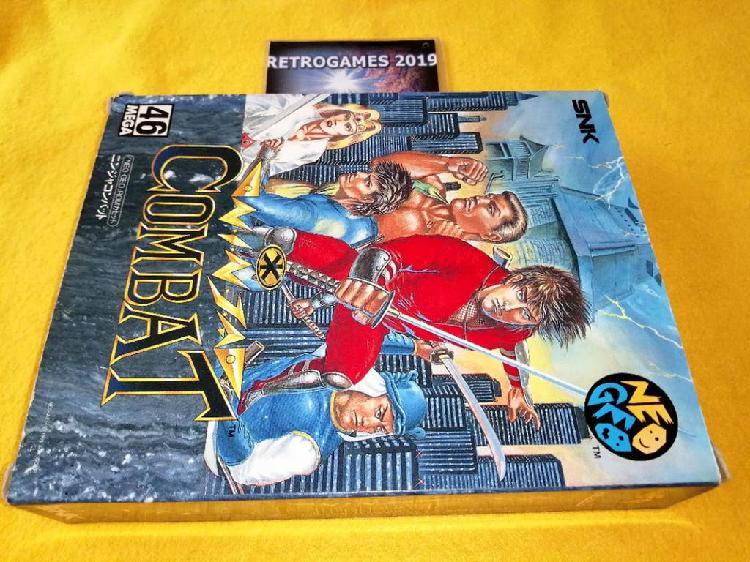 Neo geo ninja combat carton box neogeo aes snk .