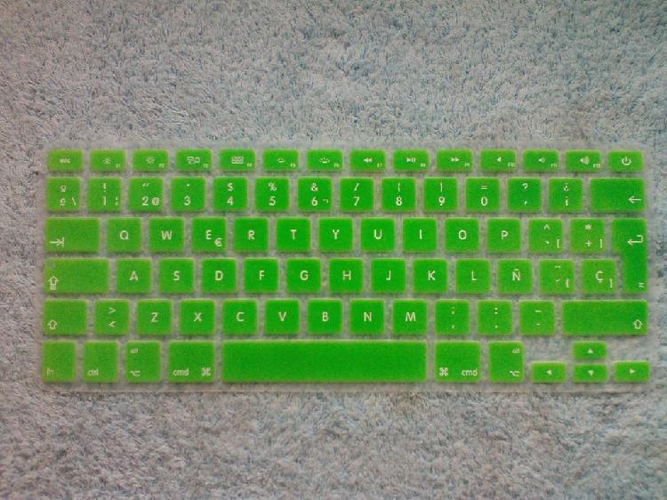 Protector silicona teclado verde mac apple macbook