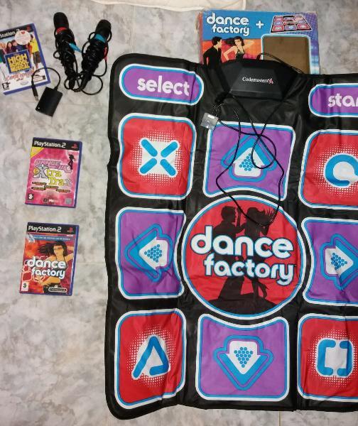 Ps2 juegos, alfombra y micros