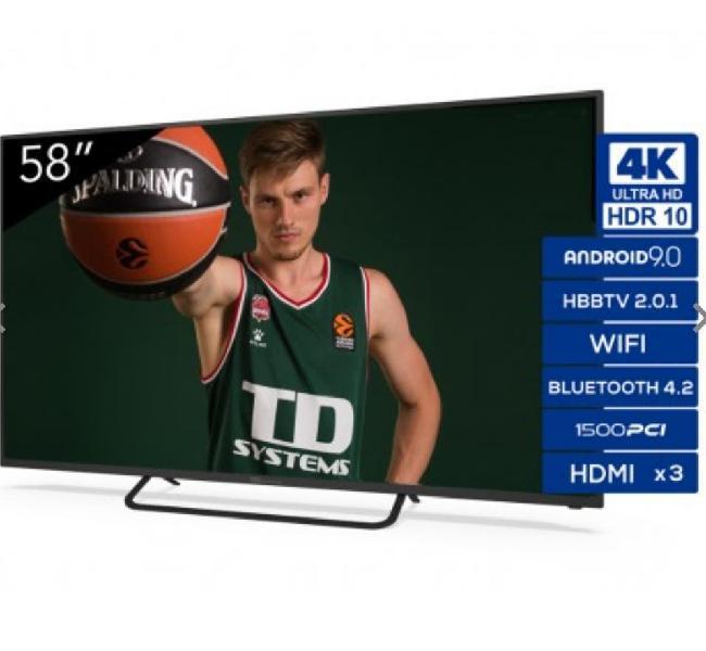 "Smart tv 58"" 4k uhd... td systems"