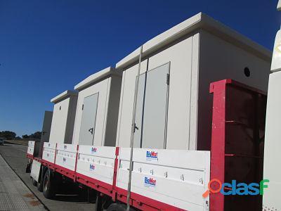 Casetas de hormigón Las casetas de hormigón son habitaciones con paredes de hormigón macizo, qué bi