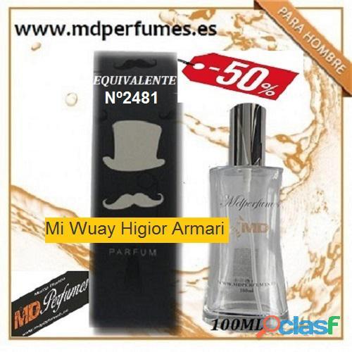 Oferta Perfume Hombre Nº2481 Mi Wuay Higior Armari alta Gama 100ml 10€ 6