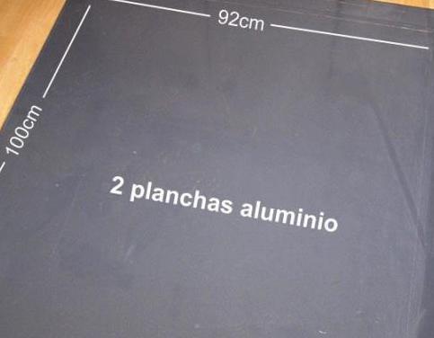 2 planchas de aluminio color gris 92x100cm