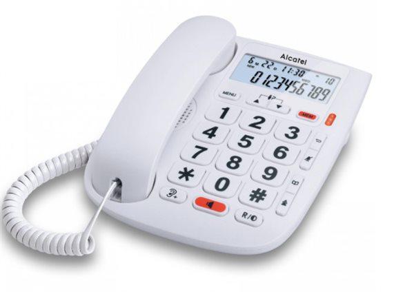 Alcatel tmax20 - teléfono de sobre mesa en blanco teclas