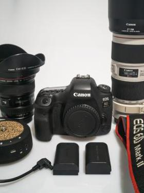 Canon 6d mark ii, con objetivos