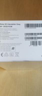 Xiaomi redmi note 9s 6 gb ram, 128 gb rom