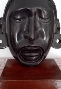 Máscara azteca doble cara