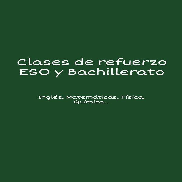 Clases refuerzo eso/bachillerato(barrio del pilar)