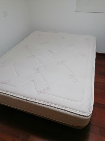 Colchón 150x190flex visco más somier base tapizada