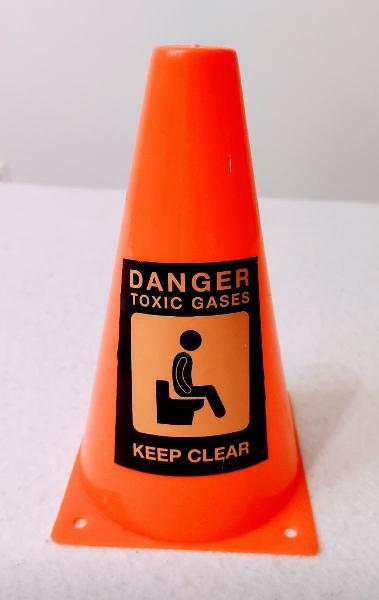 Cono danger toxic gases