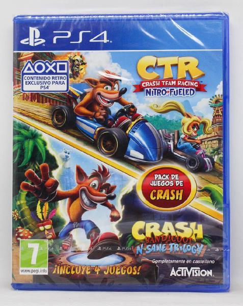 Crash team racing n sane trilogy ps4 pal esp nuevo