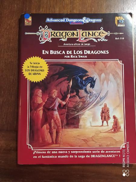 Libro de rol rpg en busca de los dragones