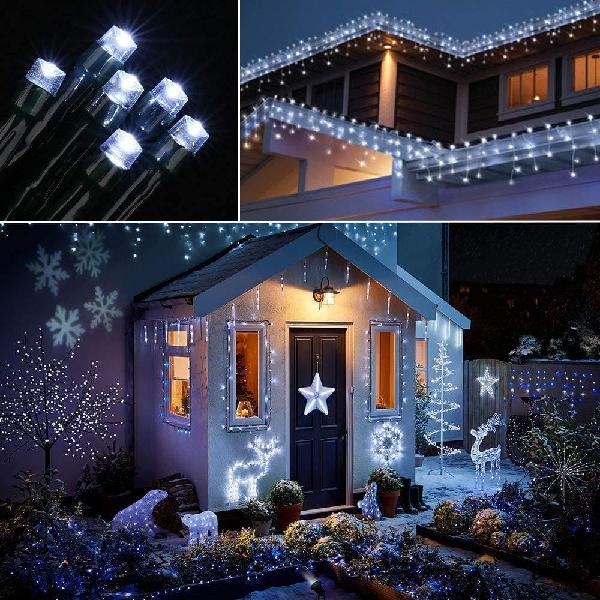 Luces led decorativas. luces navideñas solares