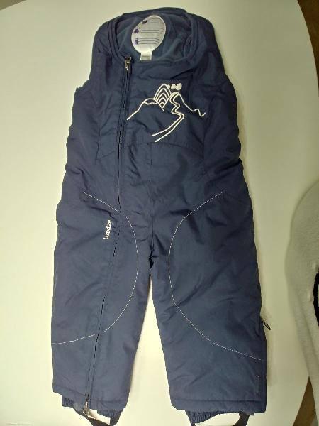 Peto para nieve talla 2 niño, azul marino decath