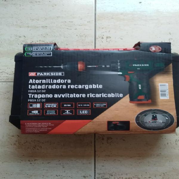 Taladro atornillador batería parkside