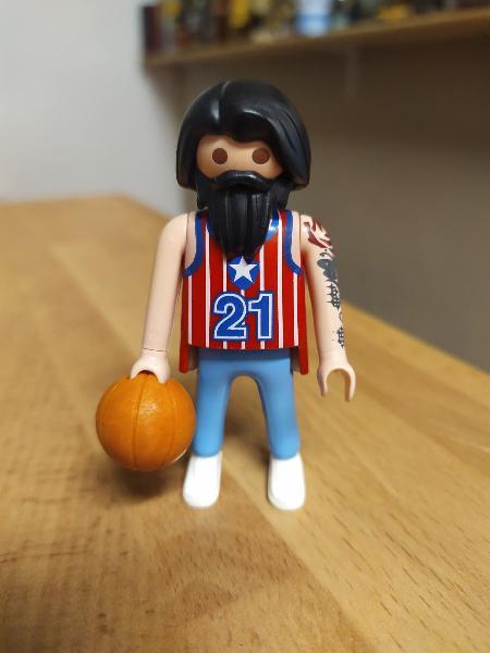 Jugador de baloncesto de playmobil