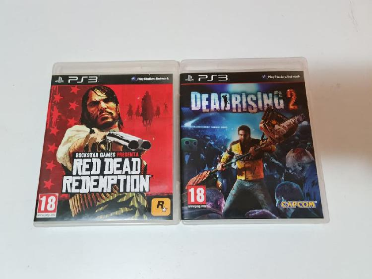Lote ps3. red dead redemption y dead rising 2