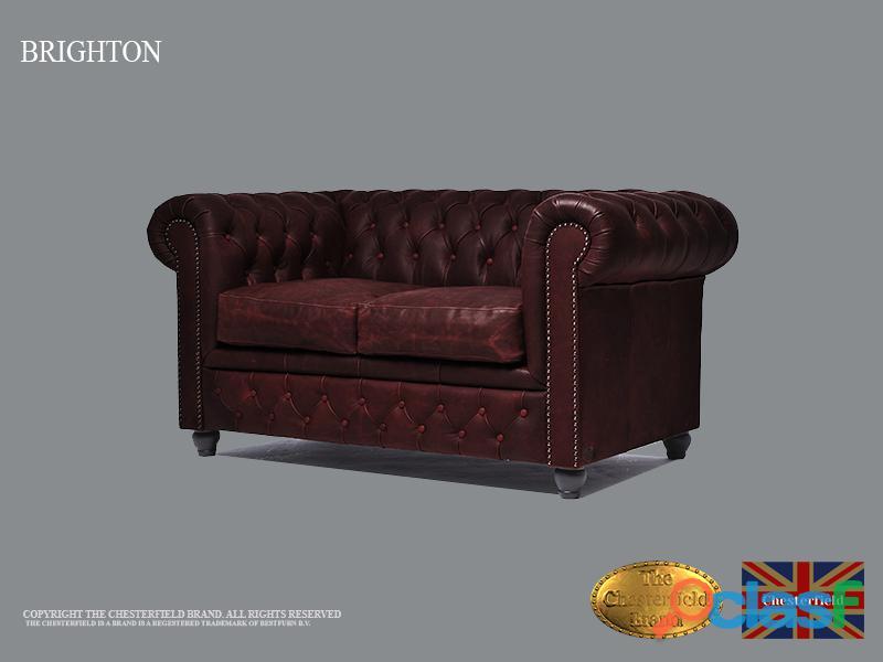 Sofá Chester 2 plazas , Cuero ,Vintage Rojo burdeos, Chesterfield Brand 8