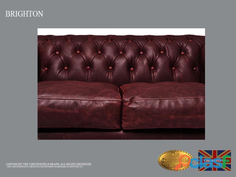 Sofá Chester 2 plazas , Cuero ,Vintage Rojo burdeos, Chesterfield Brand 4