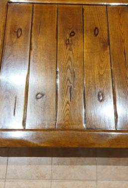 Mesa centro madera 110x110