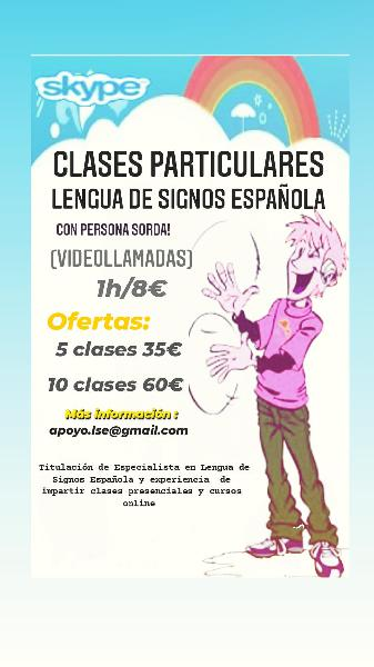 Clases particulares de lengua de signos española