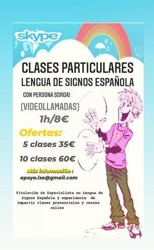 Clases particulares online lengua de signos