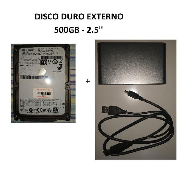 Disco duro externo 500gb 2.5'' (plateada)