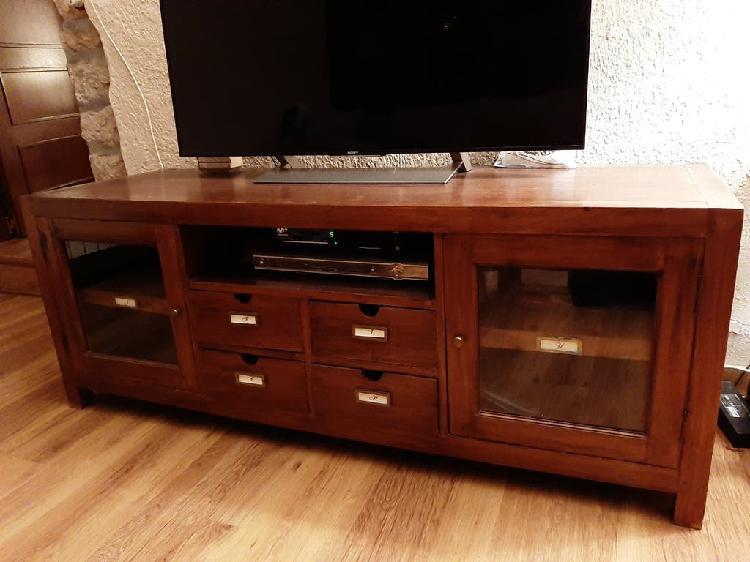 Mueble tv de madera de teca
