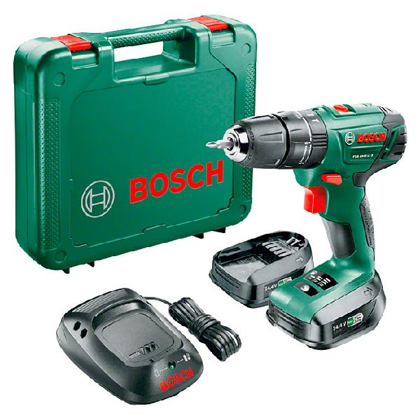 Bosch taladro atornillador percutor de batería psb 1440
