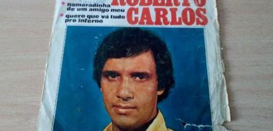 Disco vinilo single roberto carlos
