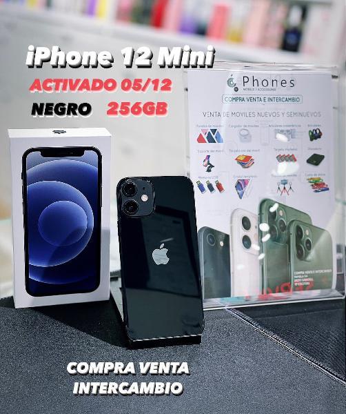 Iphone 12 mini 256gb negro solo activado (tienda)