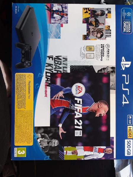 Play station 4 nueva con fifa 21 (incluye todo )