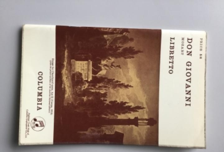 Don giovanni // mozart // libreto bilingüe // ingles
