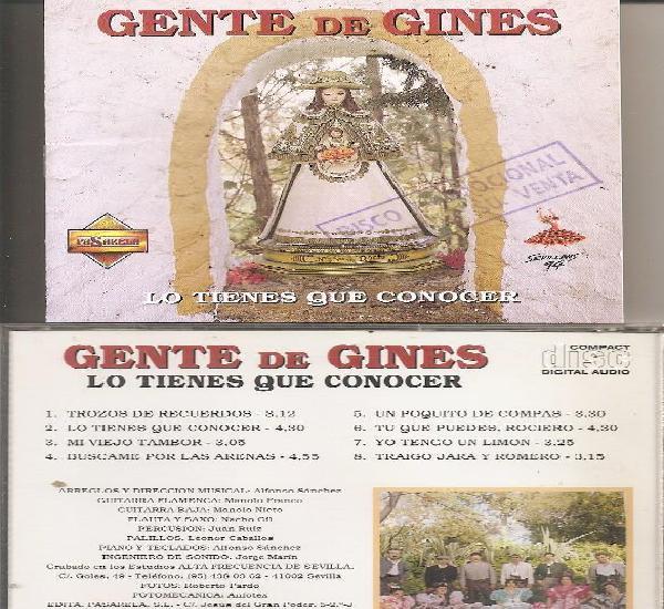 Gente de gines - lo tienes que conocer (cd, pasarela 1994)