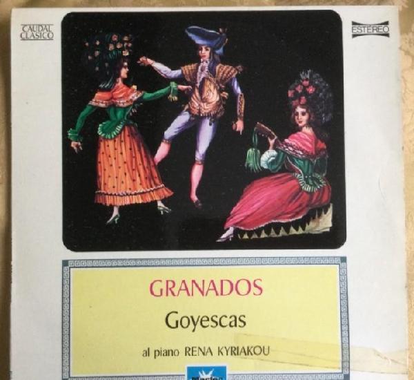 Lp vinilo enrique granados, goyescas, al piano rena kyriakou