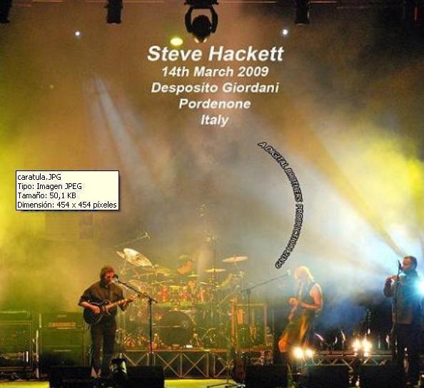 Steve hackett - live in pordenone, italy - 14 march 2009 (2