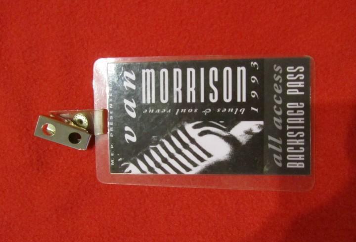 Van morrison backstage pass 1993 blues and soul revue