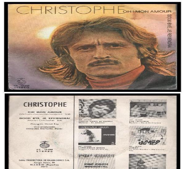 Xx single, christophe, oh mon amour y good bye, je