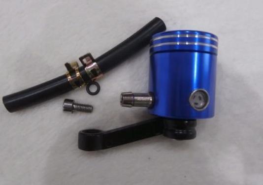 Deposito liquido delantero en aluminio color azul