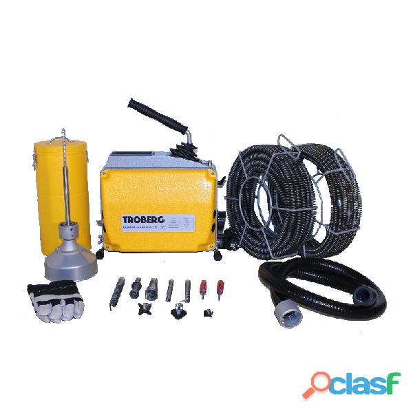 Desatascador eléctrico d 150 con espirales y herramientas 8/16/22 mm