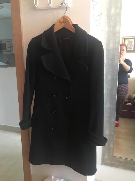 Abrigo de vestir negro zara
