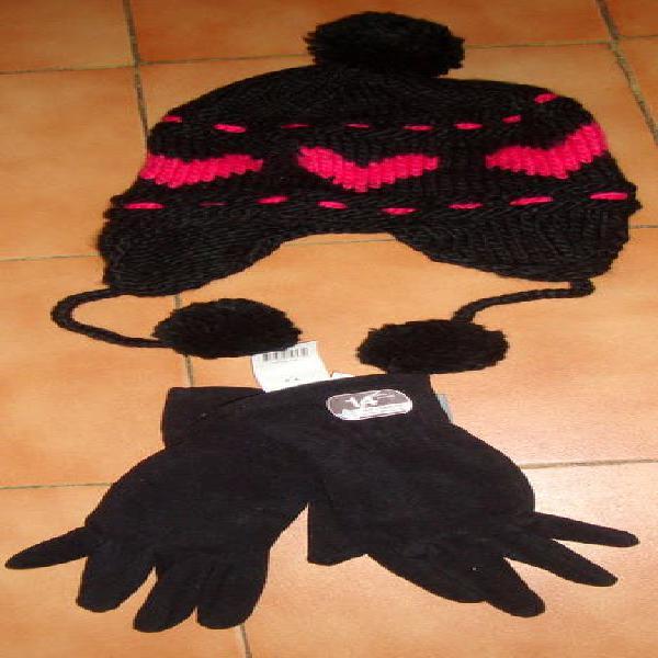 Conjunto gorro y guantes nuevos